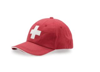 SUMMER HAT RED SWITZERLAND CASQUETTE – BONNET