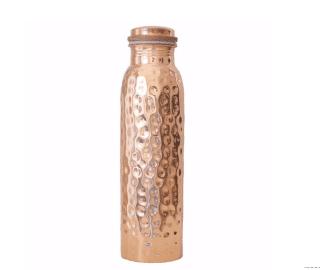 Copper Bottle-hammered-600 ml