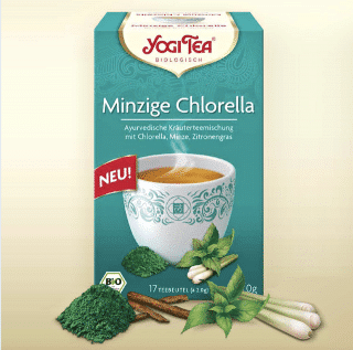 Minzige Chlorella Yogi Tee Bio, 17 Teebeutel
