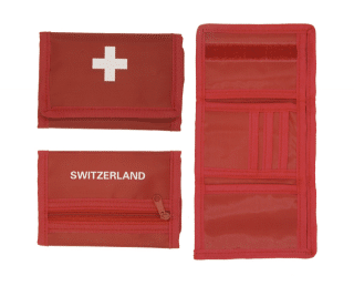 PURSE RED WITH SWISS CROSS