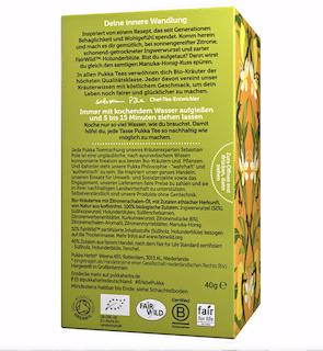 Pukka Zitrone, Ingwer & Manuka-Honig Tee Bio