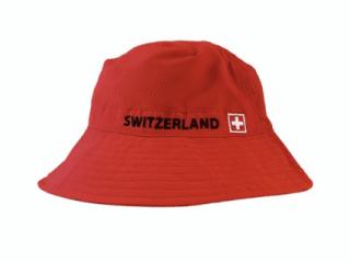 SUMMER HAT RED SWITZERLAND CASQUETTE - BONNET