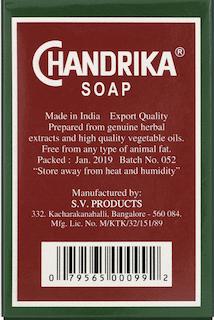 Chandrika, Ayurvedic Soap -