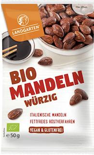 Landgarten Bio Mandeln würzig , geröstet