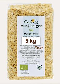 Mung Dal – gelbe Mungbohnen Bio