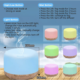 Aroma Diffuser 450 ml Humidifier