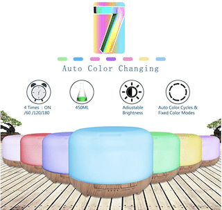 Aroma Diffuser 450 ml Humidifier - Wood Colour