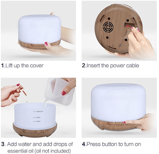 Aroma Diffuser 450 ml Humidifier with Timer
